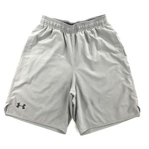 Under Armour Mens Gray Athletic Shorts, Size Small